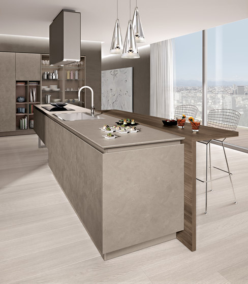 Lain Imprimé by Euromobil | Fitted kitchens