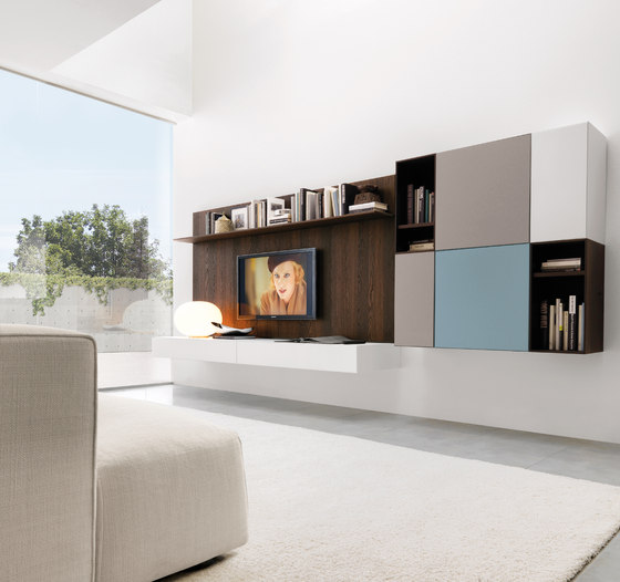 Living E45 comp.020 by Euromobil | Wall storage systems