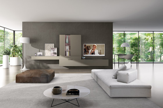 Living E90 comp.960 by Euromobil   Wall storage systems