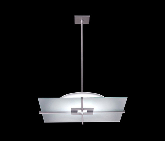 Lazer Square Pendant by The American Glass Light Company | Suspended lights
