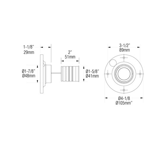 L303 | stainless steel di MP Lighting | Lampade parete incasso