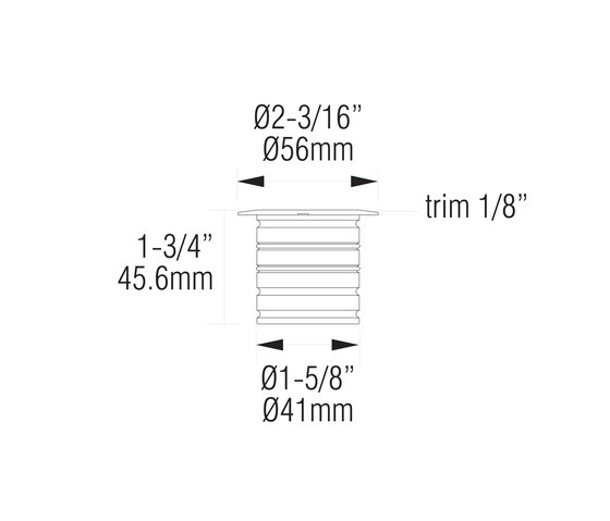L320 | 316 marine grade by MP Lighting | Recessed wall lights