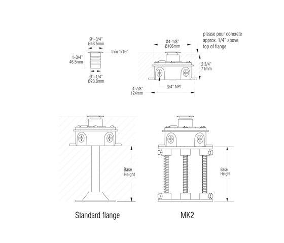 L371-L02 | matte clear anodized von MP Lighting | Wandeinbauleuchten