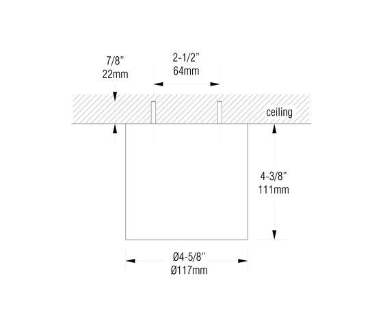 L600 | matte clear anodized de MP Lighting | Plafonniers