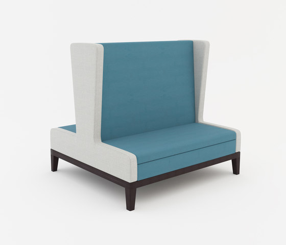symphony two seat high back banquette back to back
