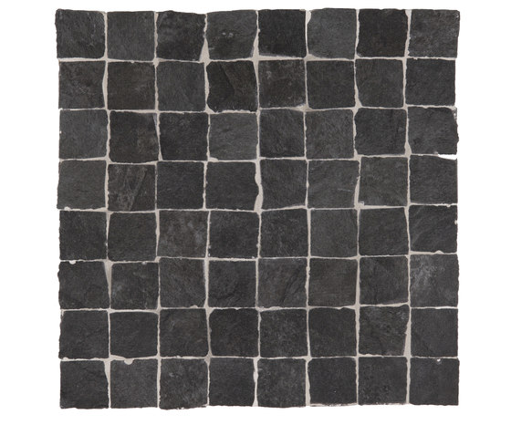 Stonework ardesia nera mosaico burattato von Ceramiche Supergres | Keramik Fliesen