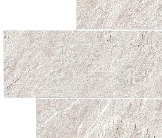 Stonework quarzite bianca muretto de Ceramiche Supergres   Baldosas de cerámica