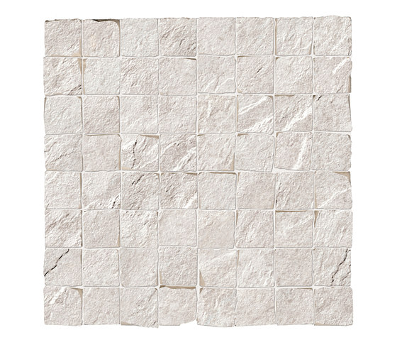 Stonework quarzite bianca mosaico burattato by Ceramiche Supergres | Ceramic tiles