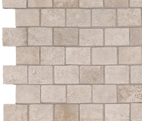 Story ivory mosaico burattato by Ceramiche Supergres | Ceramic tiles