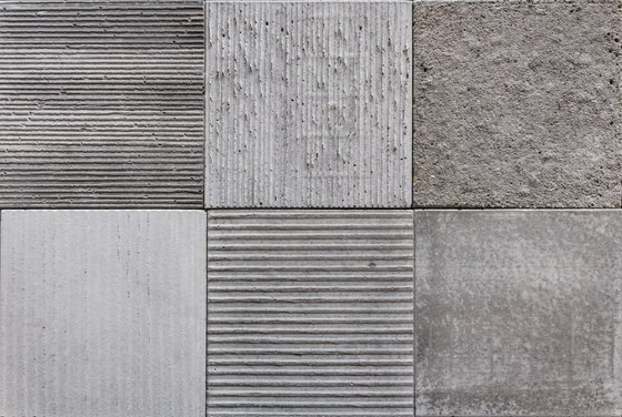 Textured Cement Panels : Samples aggregate concrete panels from ivanka
