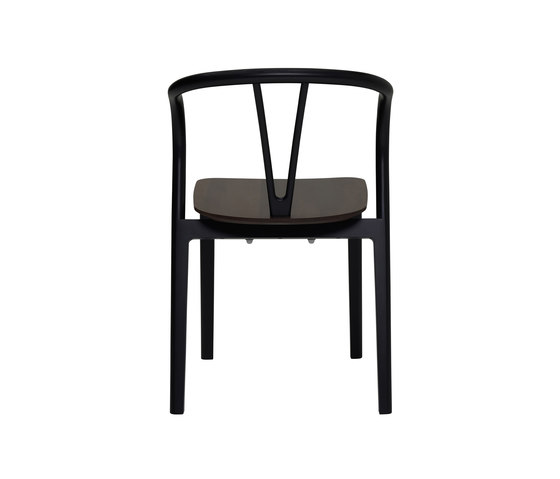 Flow | dining chair with walnut seat von ercol | Stühle