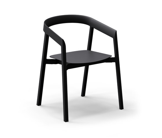 Mornington Dining Chair with Aluminium Seat by VUUE | Restaurant chairs