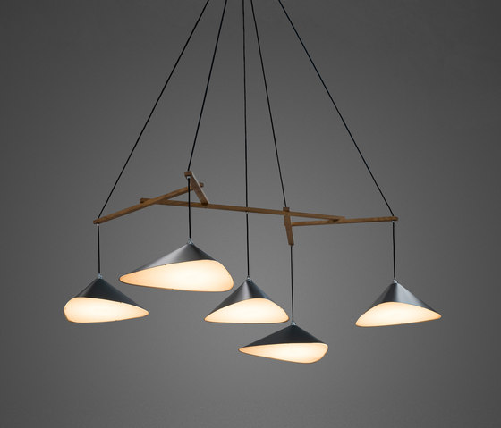 Emily Group of Five semi-matte de Daniel Becker Design Studio | Suspensions
