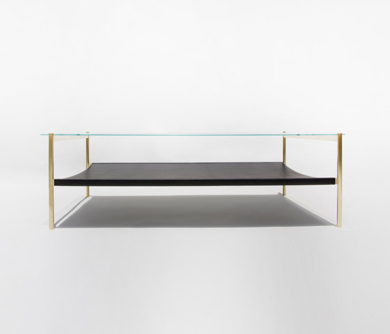 Duotone Rectangular Coffee Table | Brass / Black by Yield | Coffee tables