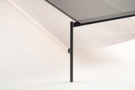 Duotone Rectangular Coffee Table | Black / Tan by Yield | Lounge tables