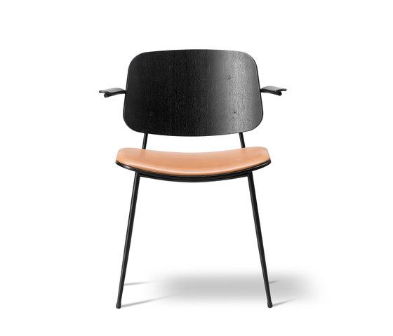 Søborg Steel Base Armchair - seat upholstered de Fredericia Furniture | Sillas