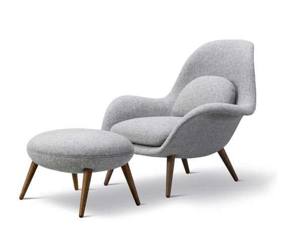 Swoon Chair + Ottoman by Fredericia Furniture | Armchairs