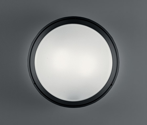 Pantarei 390 glass black by Artemide Architectural | Outdoor wall lights