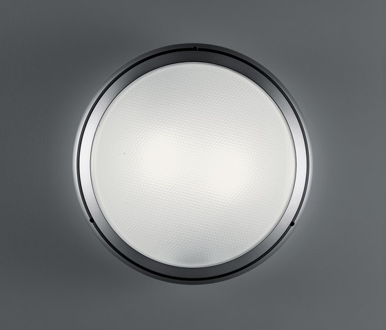 Pantarei 390 glass silver grey by Artemide Architectural | Outdoor wall lights