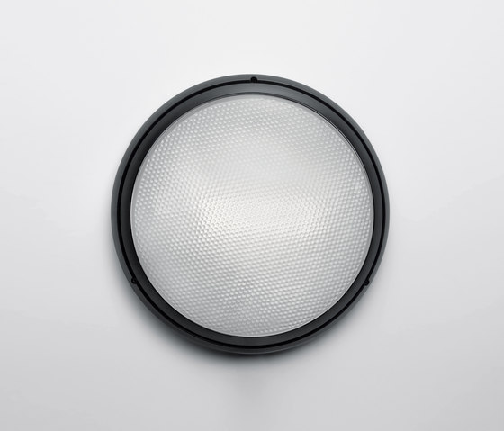 Pantarei 300 verre noir de Artemide Architectural | Appliques murales d'extérieur