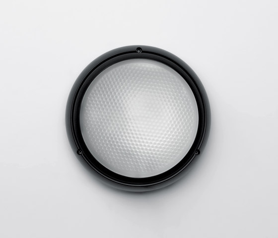 Pantarei 190 glass black by Artemide Architectural | Outdoor wall lights