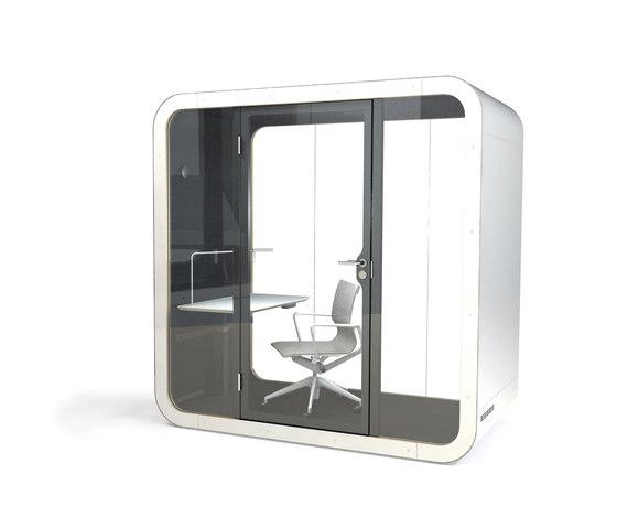 Framery Q | black/white with white door and frame de Framery | Sistemas de oficina