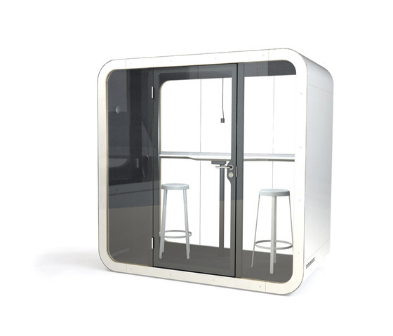 Framery Q   black/white with white door and frame de Framery   Sistemas de oficina