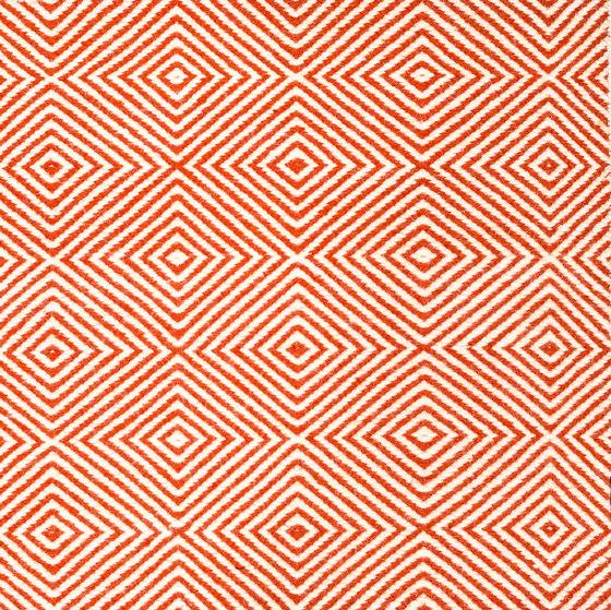 Soundscapes white & red earth von kymo | Formatteppiche
