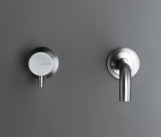 MONO SET01 | Wall mounted basin mixer with spout by COCOON | Wash basin taps