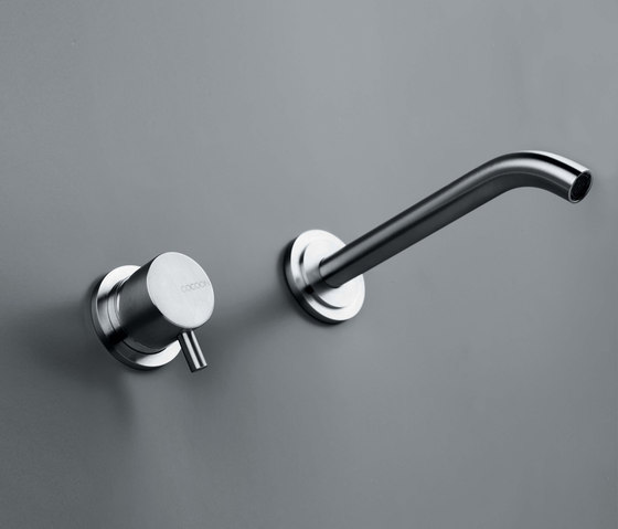 MONO SET02 | Wall mounted basin mixer with spout by COCOON | Wash basin taps