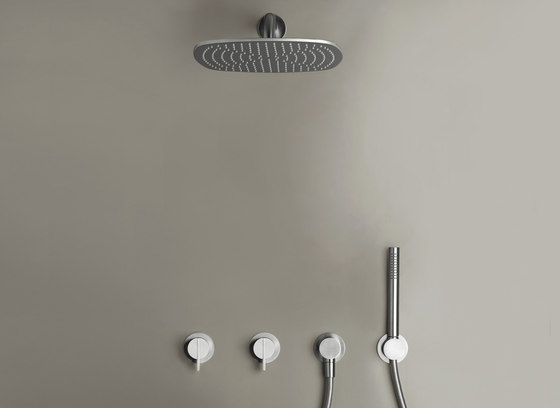 PB SET22 | Complete build-in rain shower set by COCOON | Shower controls