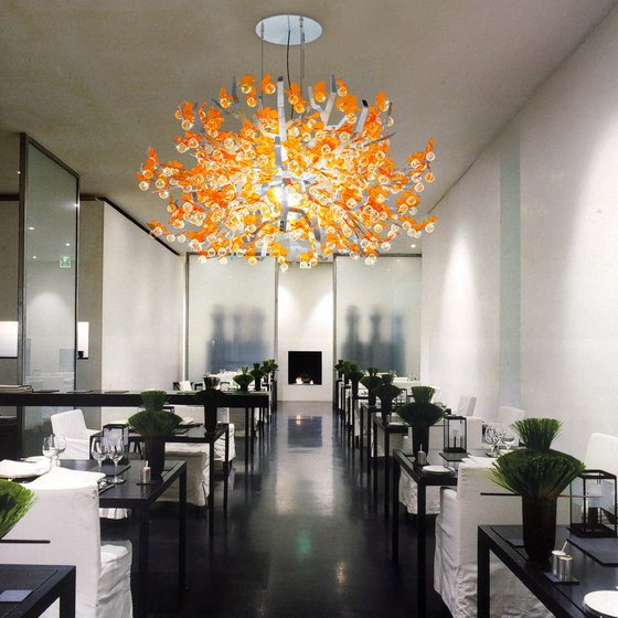 Crystal Ginkgo by Yellow Goat Design | Suspended lights