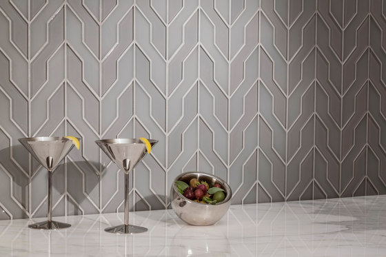 Zig Zag Dove Gray Clear Frosted Carrelage De Akdo