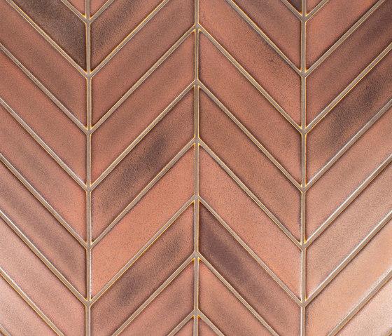 Chevron Field de Pratt & Larson Ceramics | Carrelage céramique