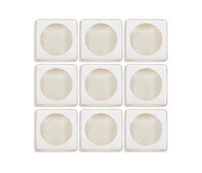 Aperture | f/1.4 Raw Fiber / Weathered White di Interstyle Ceramic & Glass | Mosaici vetro