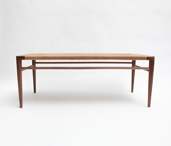 Woven Rush Bench by Smilow Design | Benches