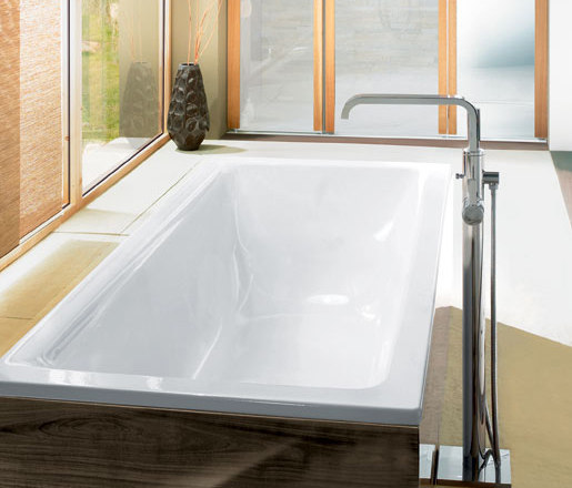 allure floor mounted tub filler - bath taps from grohe usa   architonic