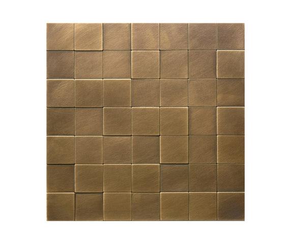 Square 50 délabré brass by De Castelli | Metal mosaics