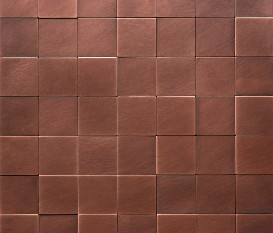Square 50 délabré copper by De Castelli | Metal mosaics