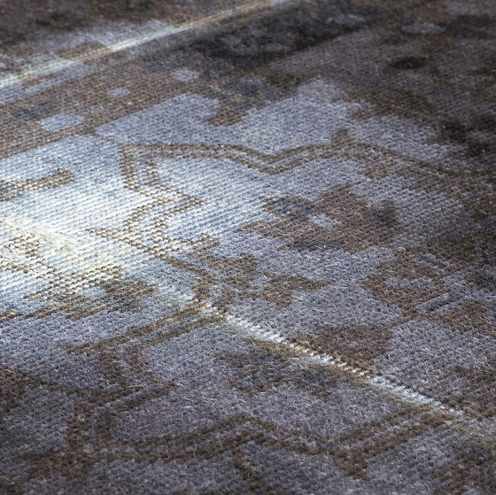 The Mashup Pure Edition Ornamental grey by kymo | Rugs