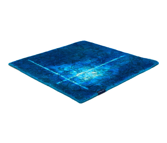 The Mashup Pure Edition Ornamental capri blue by kymo | Rugs