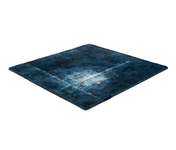 The Mashup Pure Edition Ornamental royal navy by kymo | Rugs
