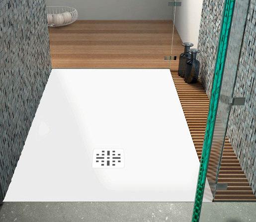 "blu•stone™ shower base 59"" by Blu Bathworks | Shower trays"