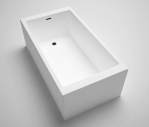 "box | freestanding or alcove acrylic bathtub 60"" de Blu Bathworks 