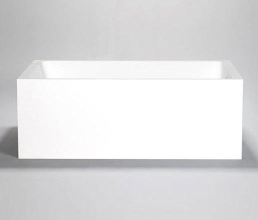 metrix | blu•stone™  freestanding or alcove rectangular tub by Blu Bathworks | Bathtubs