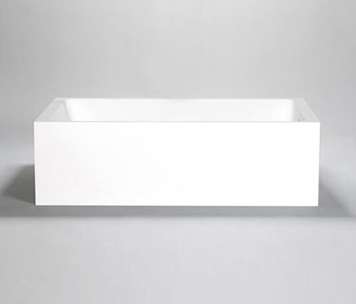 metrix | blu•stone™  freestanding or alcove rectangular tub by Blu Bathworks | Bathtubs
