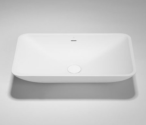 metrix | blu•stone™  rectangular countertop basin by Blu Bathworks | Wash basins
