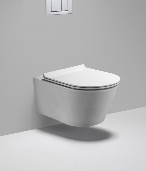 coco | dual flush - wall mounted elongated toilet by Blu Bathworks | WC