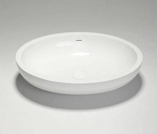 halo   blu•stone™  oval countertop basin by Blu Bathworks   Wash basins