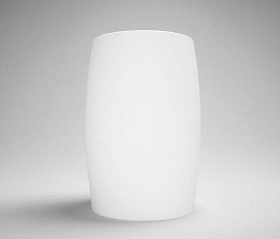 halo | blu•stone™ round freestanding pedestal basin de Blu Bathworks | Lavabos